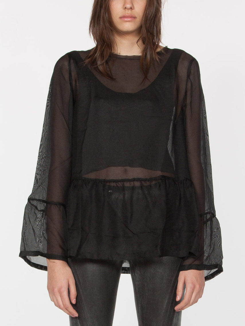 Hada Silk Top / Black, Women's, Clothing, Apparel - Drifter Industries