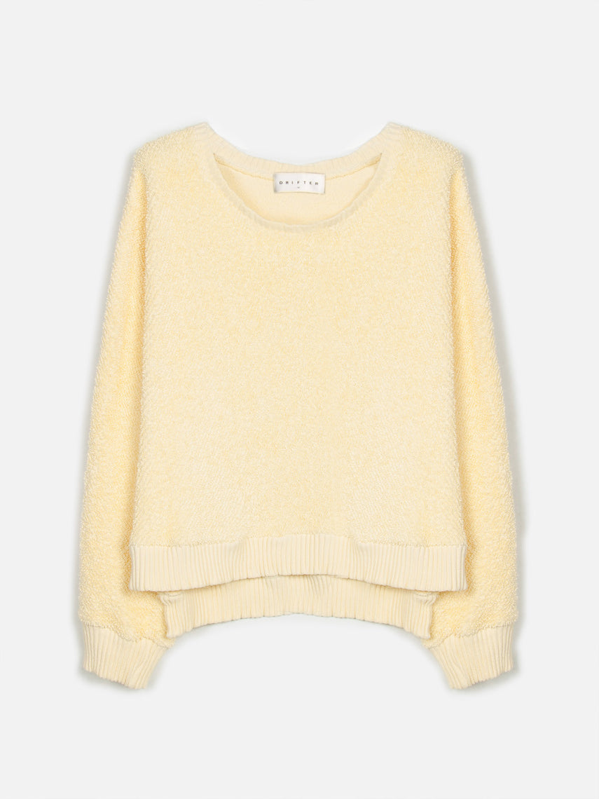 Somalia Crop Pullover / Pale Yellow