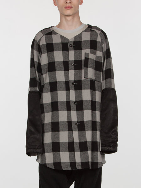 Tora Baseball Top // Plaid/Black, Men's, Clothing, Apparel - Drifter Industries