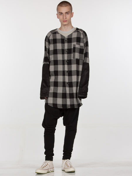 Tora Baseball Top // Plaid/Black