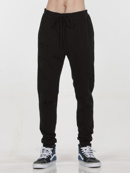 Twist Sweatpants / Black