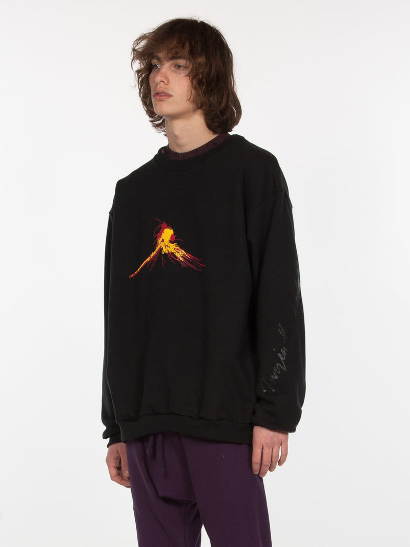 Volcanus Pullover / Black, Men's, Clothing, Apparel - Drifter Industries
