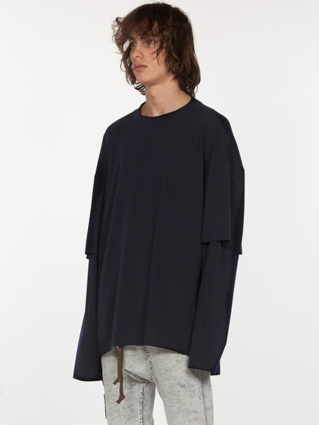 Sylvan Elongated Pullover / Navy