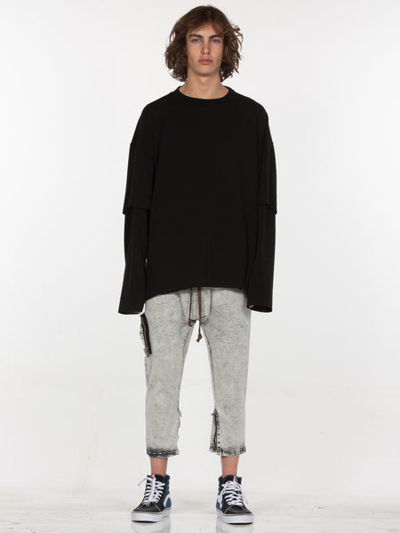 Sylvan Elongated Pullover / Black