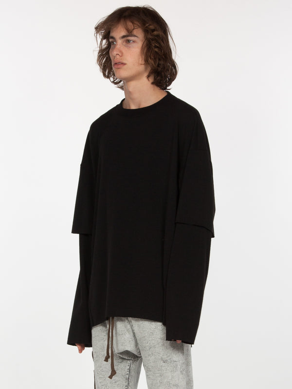 Sylvan Elongated Pullover / Black, Men's, Clothing, Apparel - Drifter Industries