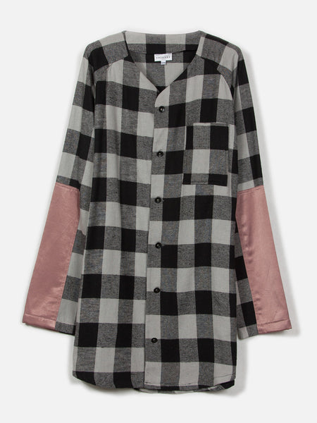 Tora Baseball Top // Plaid/Pink