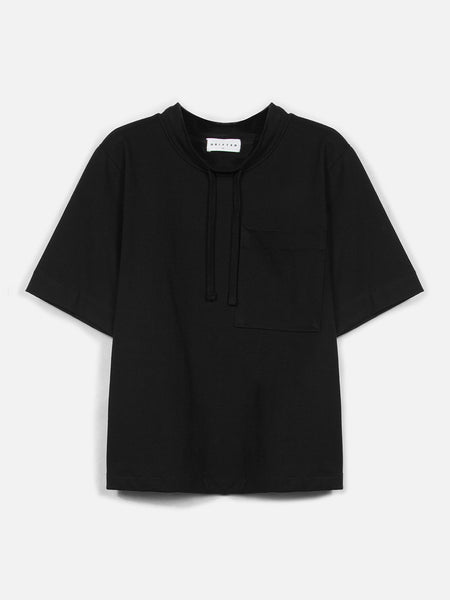 Mansur Short Sleeve Top / Black