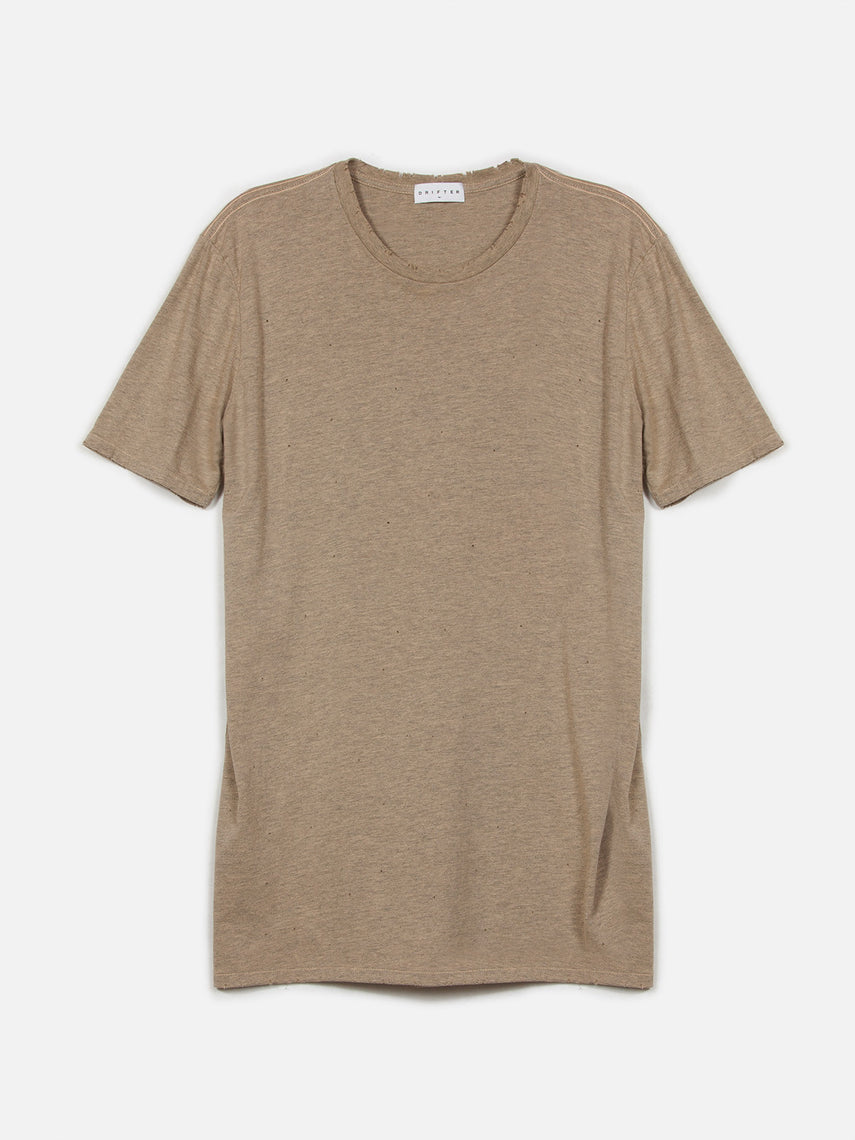 Saferris Tee / Heather Sand, Men's, Clothing, Apparel - Drifter Industries