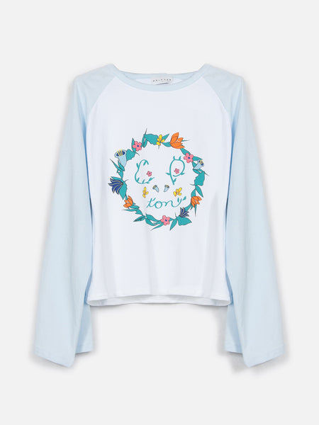 Comptonella Long Sleeve Top / Ballad Blue, Women's, Clothing, Apparel - Drifter Industries