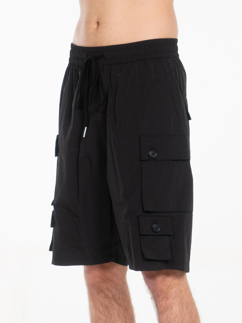 Young Nylon Cargo Shorts / Black, , Clothing, Apparel - Drifter Industries
