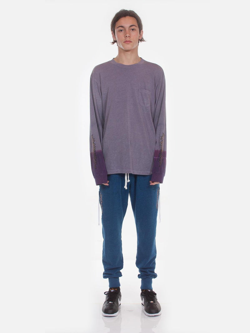 Kojak Dip-Dye Long Sleeve Tee / Purple, Men's, Clothing, Apparel - Drifter Industries