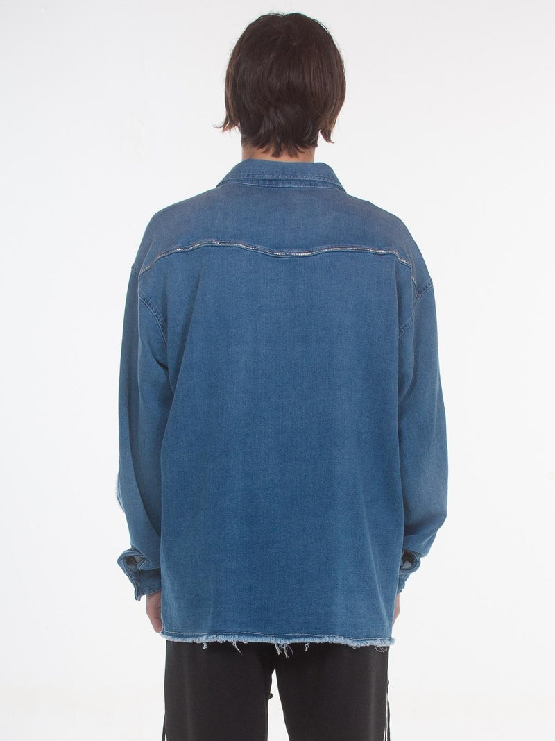 Hutch Indigo Shirt / Indigo, Men's, Clothing, Apparel - Drifter Industries