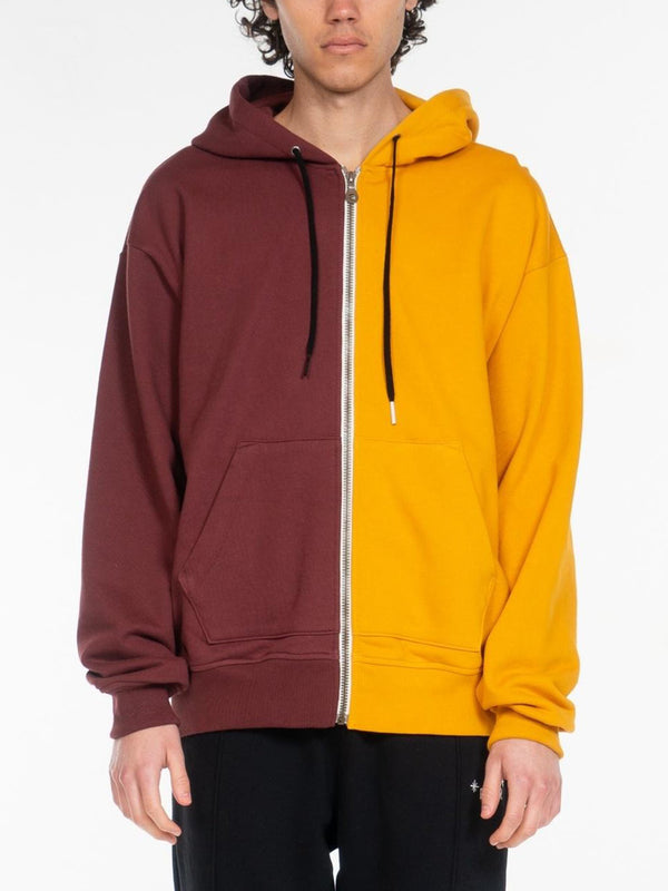 Blond Classic Zip-Up Hoodie / Yellow & Brown, , Clothing, Apparel - Drifter Industries