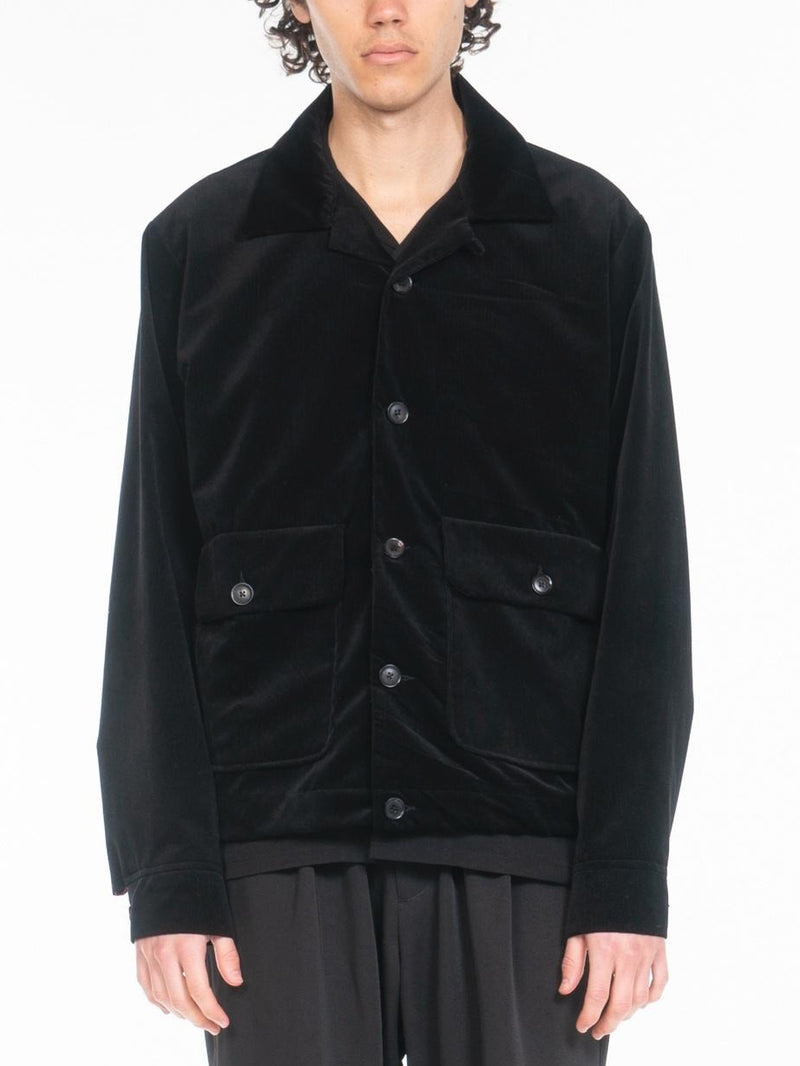Milner Linned Corduroy Blouson Jacket / Black, , Clothing, Apparel - Drifter Industries