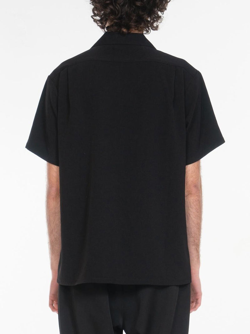 Fields Open Collar Shirts / Black, , Clothing, Apparel - Drifter Industries