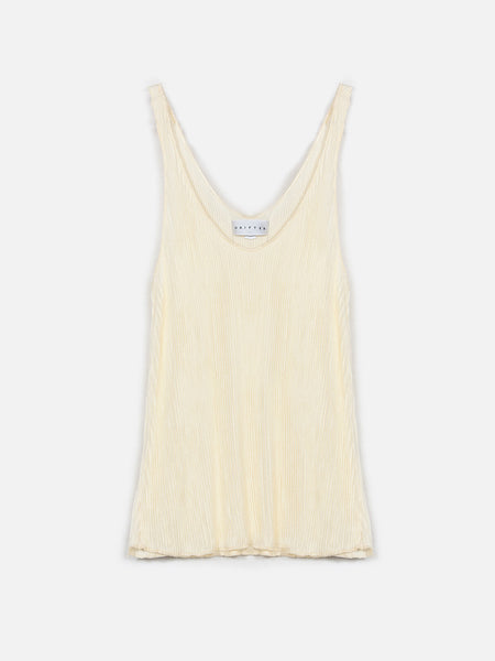 Mildred Tank / Transparent Yellow, Women's, Clothing, Apparel - Drifter Industries