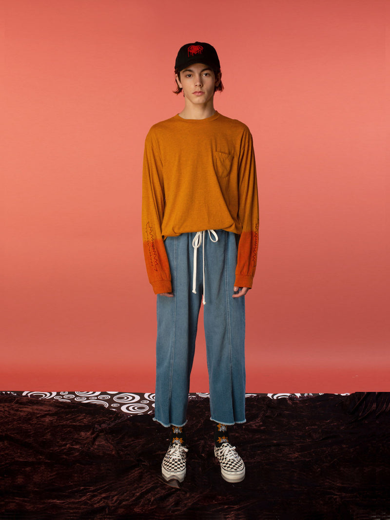 Kojak Dip-Dye Long Sleeve Tee / Orange