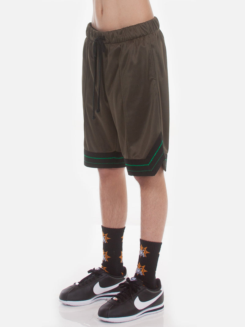 FW18 Boogie Basketball Shorts / Army Green, Men's, Clothing, Apparel - Drifter Industries