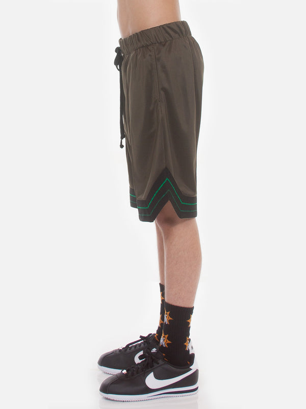 FW18 Boogie Basketball Shorts / Army Green