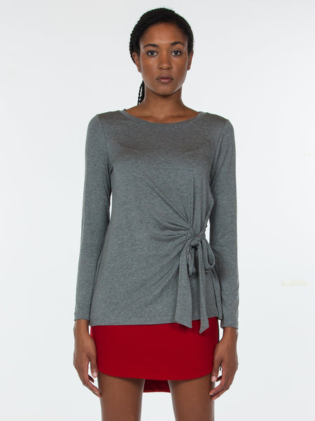 Ava Top / Heather Grey