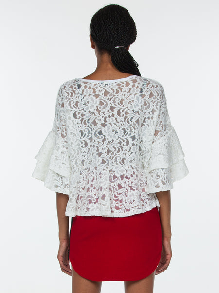 Katt Lace Top / White