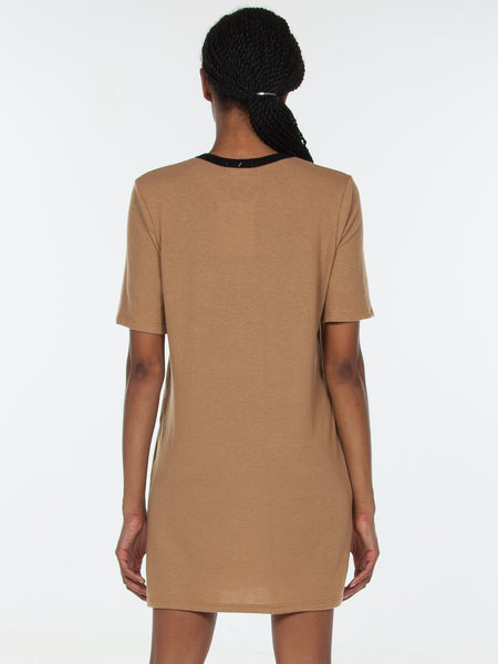 Emma T-Shirt Dress / Camel