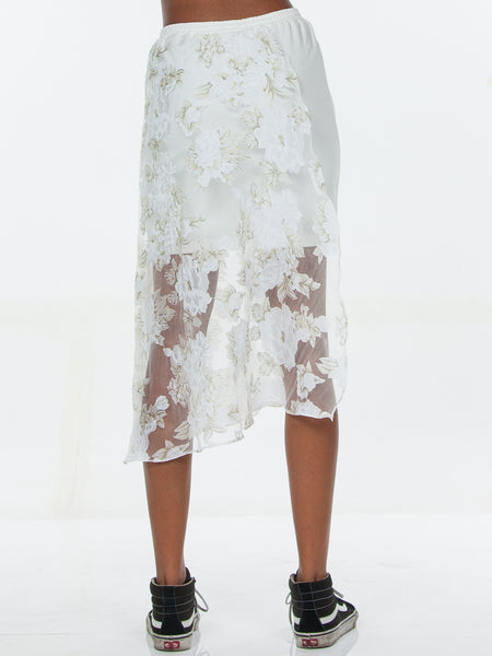 Elyse Skirt / White
