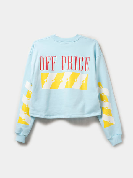 OFF-PRICE CROP PULLOVER / Pastel Blue