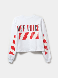OFF-PRICE CROP PULLOVER / White