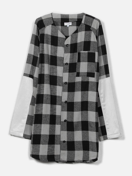 Tora Baseball Top // Plaid/White