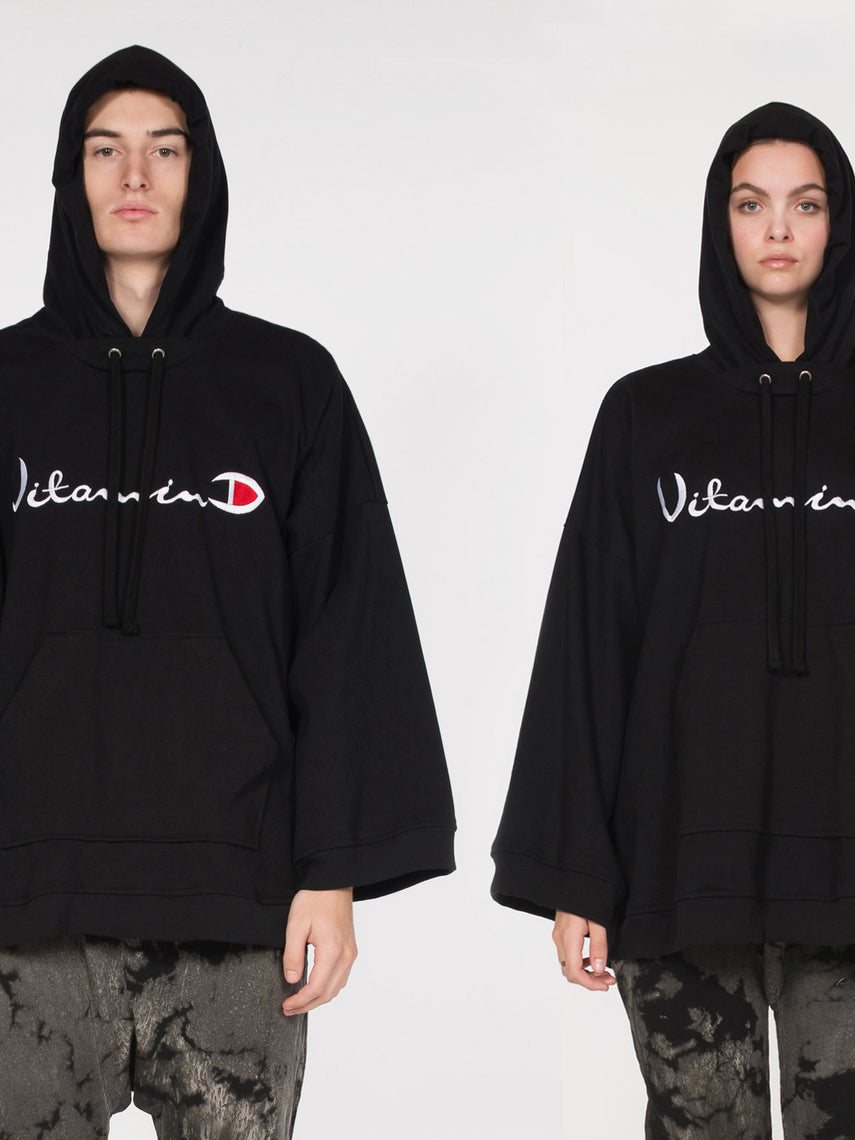 D x A Ventus Vitamin D Hoodie / Black, Collaboration, Clothing, Apparel - Drifter Industries