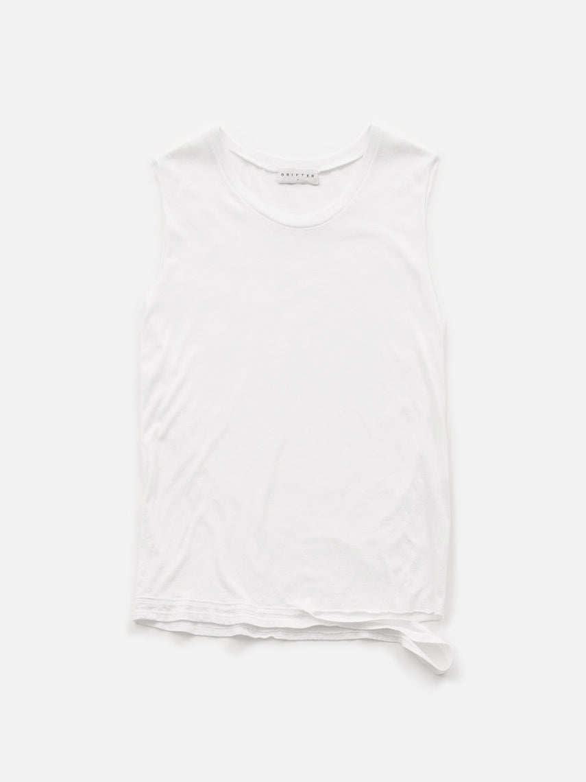 Presidente Muscle Tank / White, Women's, Clothing, Apparel - Drifter Industries