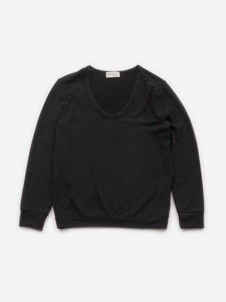 Orly Rounded V-Neck Pullover / Black, Women's, Clothing, Apparel - Drifter Industries