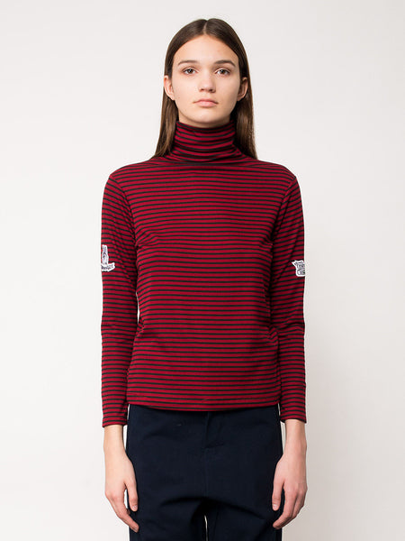 Arjun Turtleneck Top / Red/Navy, Women's, Clothing, Apparel - Drifter Industries