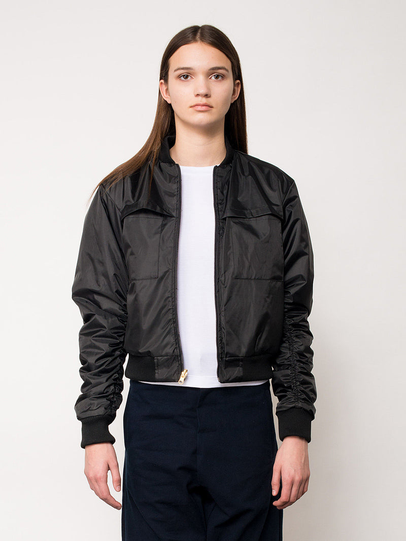 Illustrious Black Bomber Jacket, Women's, Clothing, Apparel - Drifter Industries