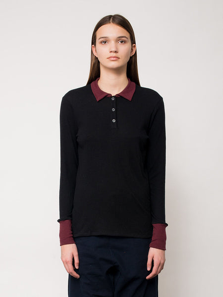 Viana Polo / Black, Women's, Clothing, Apparel - Drifter Industries