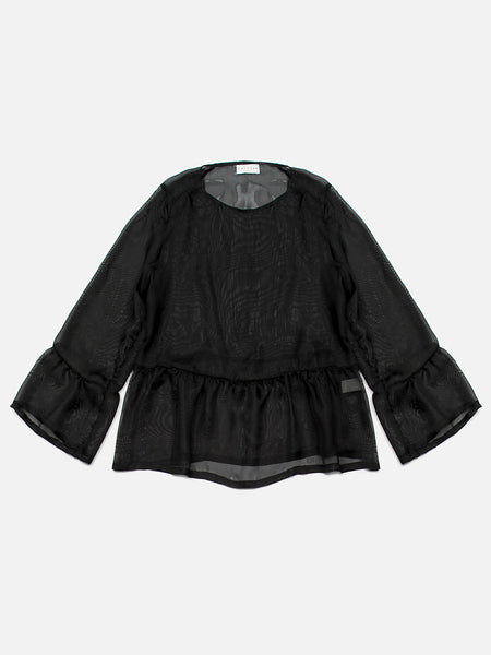 Hada Silk Top / Black