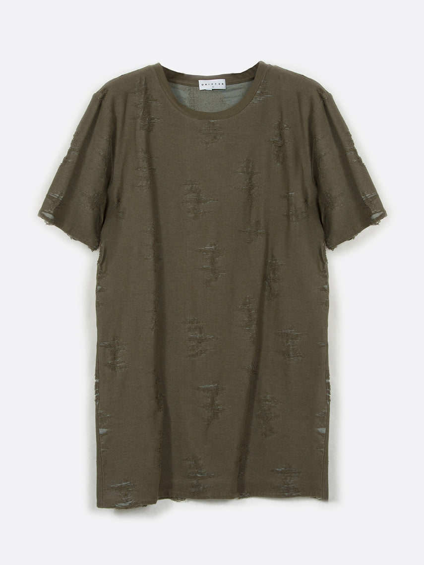 Gebel Shredded Top / Olive, Men's, Clothing, Apparel - Drifter Industries