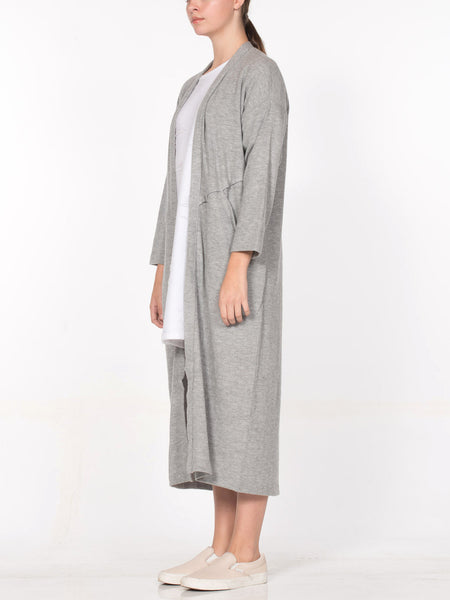 Aster Cardigan Robe / Heather Grey