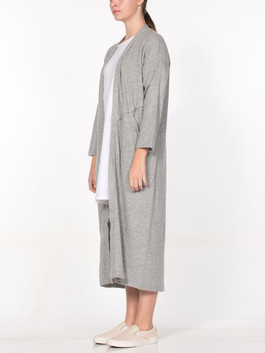 Aster Cardigan Robe / Heather Grey, Women's, Clothing, Apparel - Drifter Industries