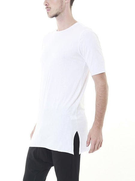 Neal Elongated Tee / White