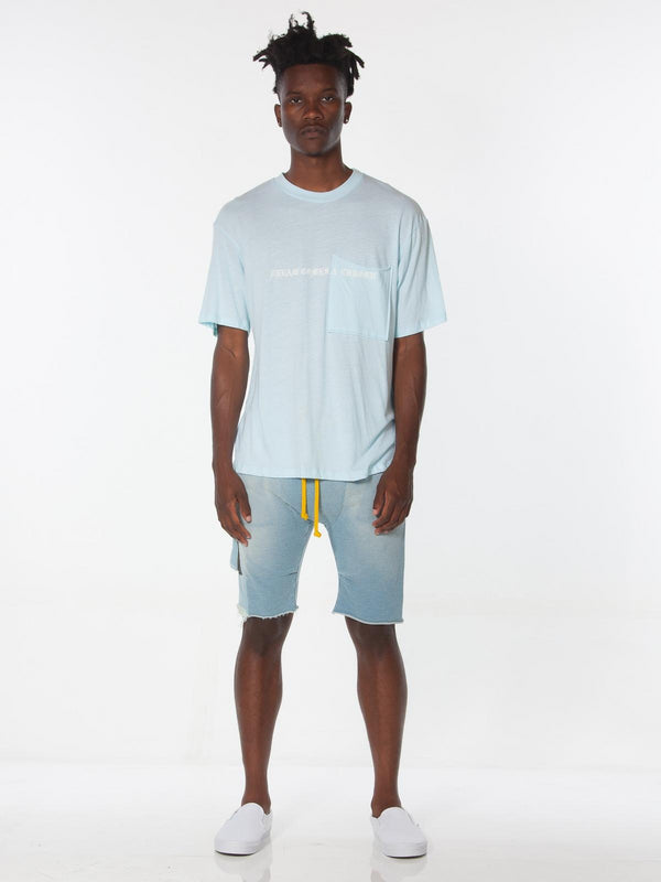 Ibidem Crew Neck Top / Pastel Blue, Men's, Clothing, Apparel - Drifter Industries
