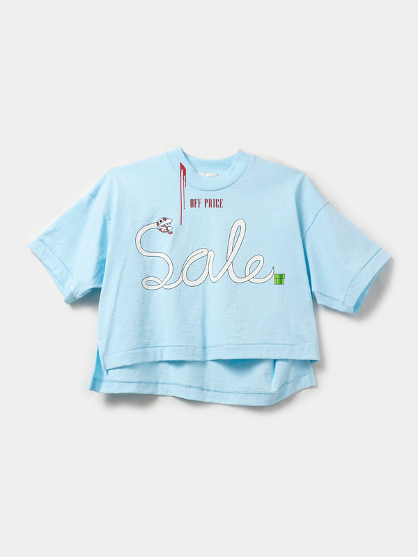 OFF-PRICE CROP TOP / Pastel Blue