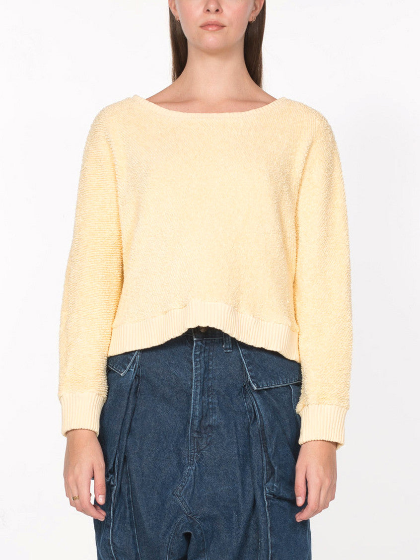 Somalia Crop Pullover / Pale Yellow, Women's, Clothing, Apparel - Drifter Industries