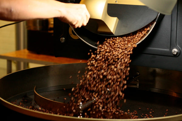 freshly roasted coffee beans