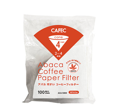 Cafec Abaca Paper Filter 100 Sheets - Cone