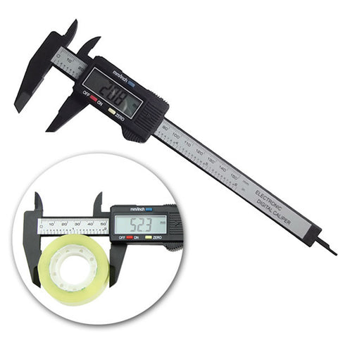 150mm Electronic Digital Caliper Ruler Carbon Fiber Composite Vernier