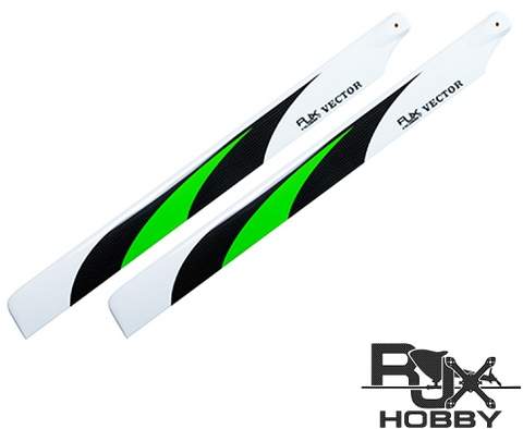 RJX Vector Green 520mm Premium CF Blades