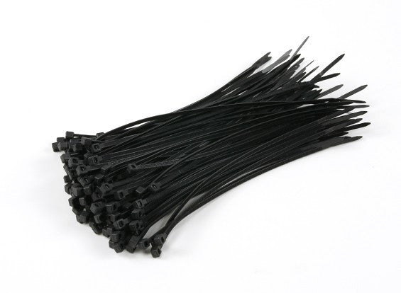 Cable Ties 100mm x 2mm Black (100pcs)