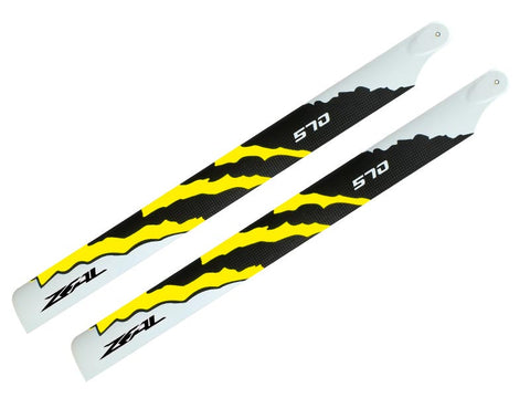 ZEAL Energy Carbon Fiber Main Blades 570mm (Yellow)